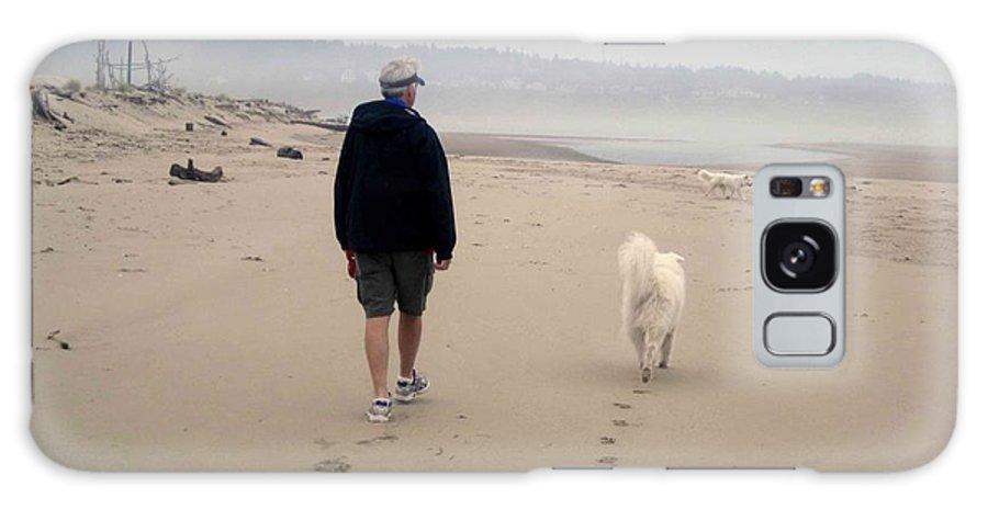 Beach Galaxy S8 Case featuring the photograph Man's Best Friend by Fiona Kennard