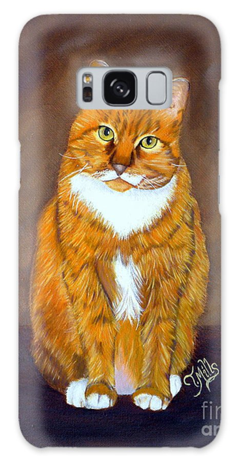 Cat Galaxy S8 Case featuring the painting Manx Cat by Terri Mills