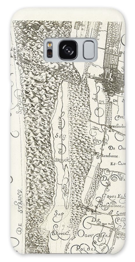 1562 Galaxy S8 Case featuring the drawing Map Of Delfland Leaf Center Left The Netherlands by Quint Lox
