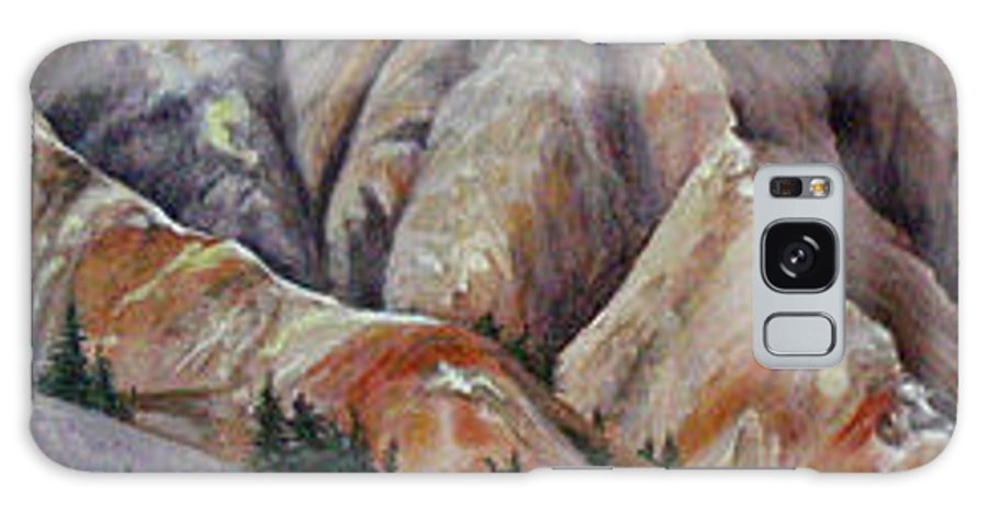 Mountains Galaxy Case featuring the painting Marble Ridge by Elaine Booth-Kallweit