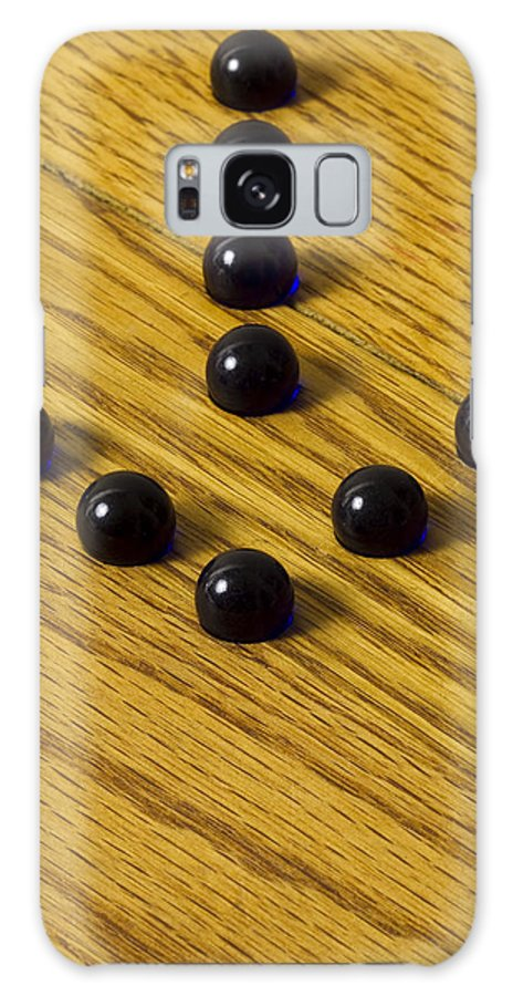 Glass Galaxy S8 Case featuring the photograph Marbles Arrow Blue 1 by John Brueske