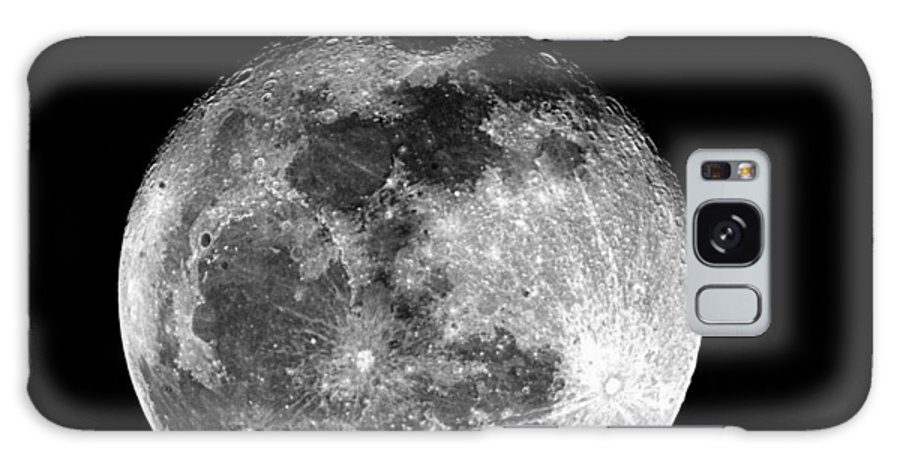 Moon Galaxy S8 Case featuring the photograph March Full Moon by Paul Wilford