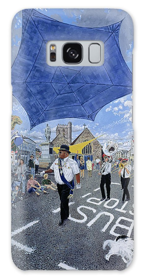 Awning Galaxy S8 Case featuring the photograph Marching Band, Brecon Jazz Festival, 1994 Oil On Board by Huw S. Parsons