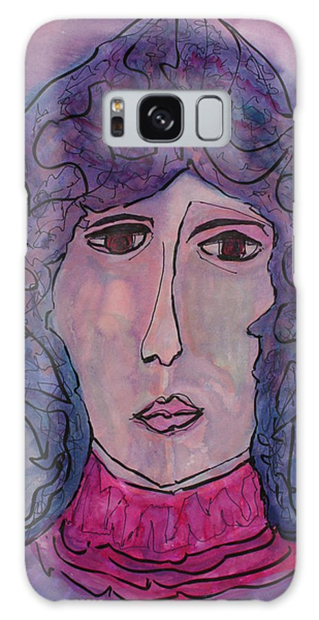 Art Galaxy S8 Case featuring the painting Marcie by Oscar Penalber