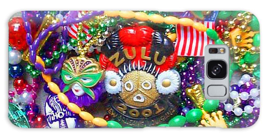Mardi Gras Galaxy S8 Case featuring the photograph Mardi Gras Beads 1 by William Tegtmeyer