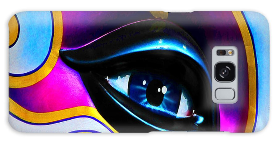 Mask Galaxy S8 Case featuring the photograph Mardi Gras Eye by Mike Martin