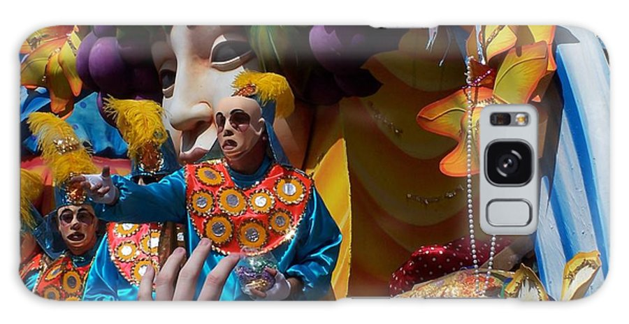 Mardi Gras Galaxy S8 Case featuring the photograph Mardi Gras Float 1 Throw Me Somthin' Mister by William Tegtmeyer