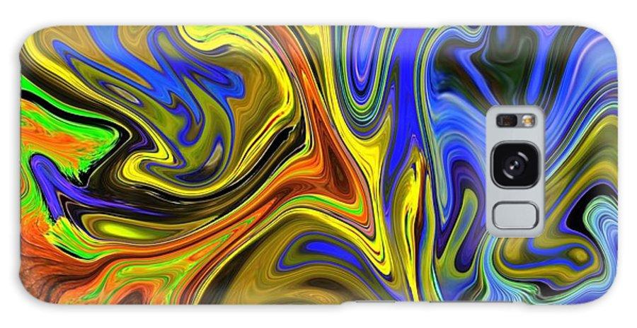 Mardi Gras Galaxy S8 Case featuring the digital art Mardi Gras Mask by Chad Miller