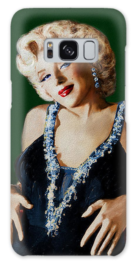 Theo Danella Galaxy S8 Case featuring the painting Marilyn 126 Green by Theo Danella