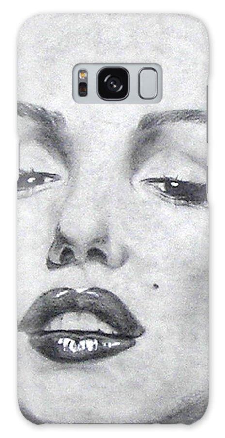 Marilyn Galaxy S8 Case featuring the mixed media Marilyn Closeup by Christine Maeda
