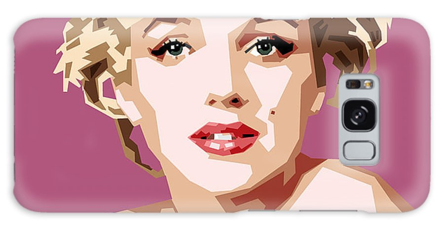 Digital Painting Of Movie Star Marilyn Monroe Galaxy S8 Case featuring the digital art Marilyn by Douglas Simonson
