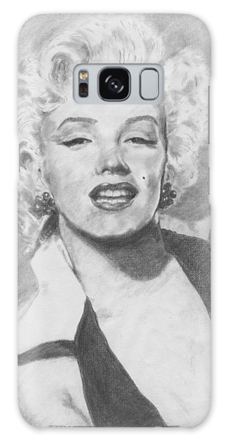Marilyn Galaxy S8 Case featuring the drawing Marilyn. by Janice Gell