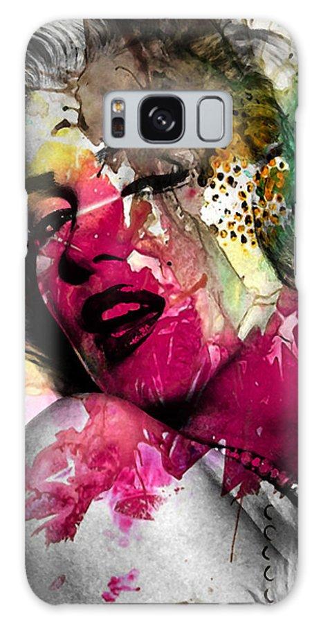 Pop Art Galaxy Case featuring the photograph Marilyn Monroe by Mark Ashkenazi