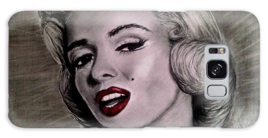 Marilyn Monroe Charcoal Drawing 16 X 20. Galaxy S8 Case featuring the drawing Marilyn Monroe by Paula Soesbe