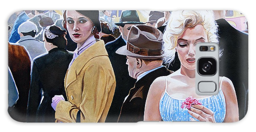 Celebrity Galaxy S8 Case featuring the painting Marilyn Monroe - River Of No Return by Jo King
