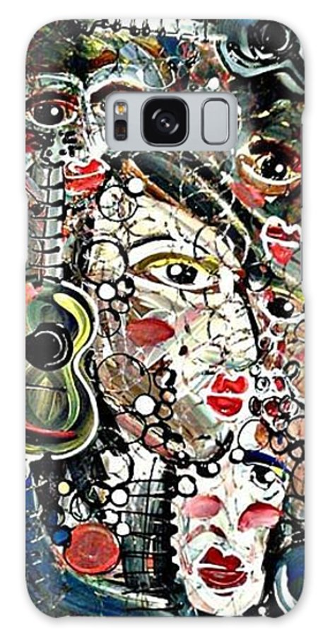 Marionette Galaxy S8 Case featuring the painting Marionettes by Kristin Griffis