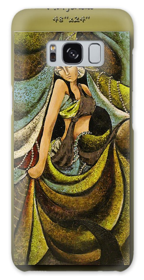 Textured Galaxy S8 Case featuring the painting Marjinaa by Faz