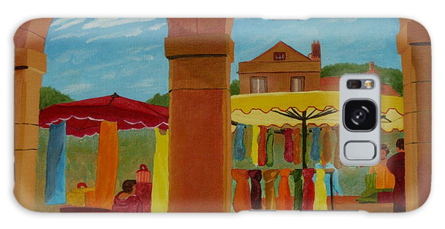 Landscape Galaxy Case featuring the painting Market Day by Anthony Dunphy