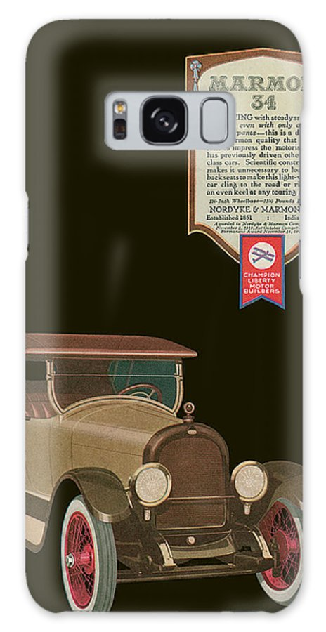 '20's Galaxy S8 Case featuring the drawing Marmon 34 - Vintage Poster by World Art Prints And Designs