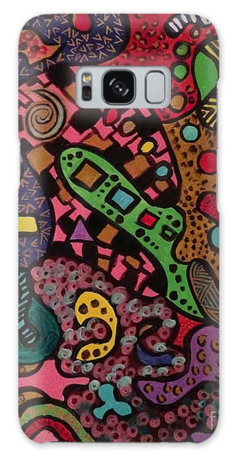 80s Galaxy S8 Case featuring the painting Married To The Mob 2 by Tiffany Williams