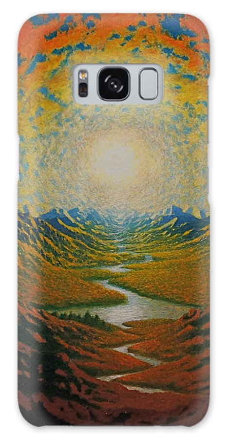 Sun Galaxy S8 Case featuring the painting Mars by Karma Moffett