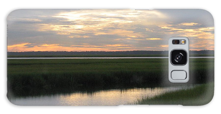 Marsh Galaxy S8 Case featuring the photograph Marsh Sunset 3 by Ellen Meakin