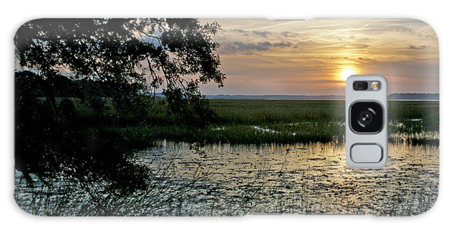 Sunrise Galaxy S8 Case featuring the photograph Marsh View by Phill Doherty