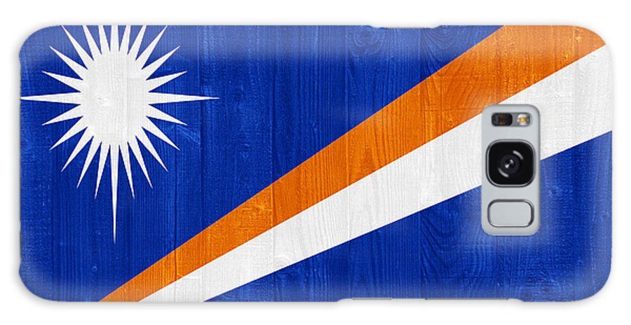 Marshall Galaxy S8 Case featuring the photograph Marshall Islands Flag by Luis Alvarenga