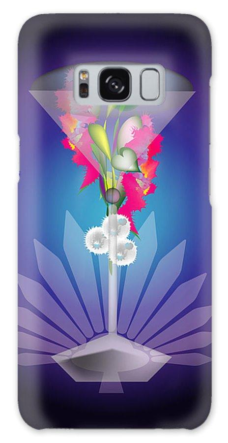 Martini Galaxy Case featuring the digital art Martini Flower by George Pasini