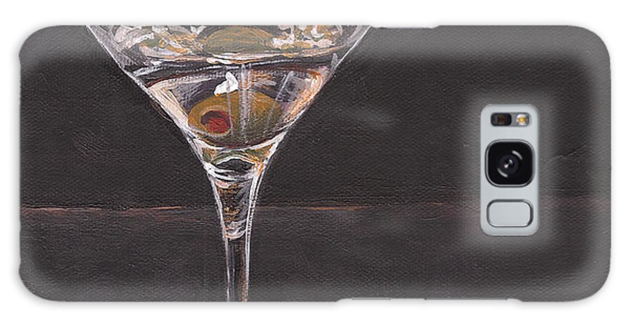 Martini Galaxy S8 Case featuring the painting Martini by Gayle Utter