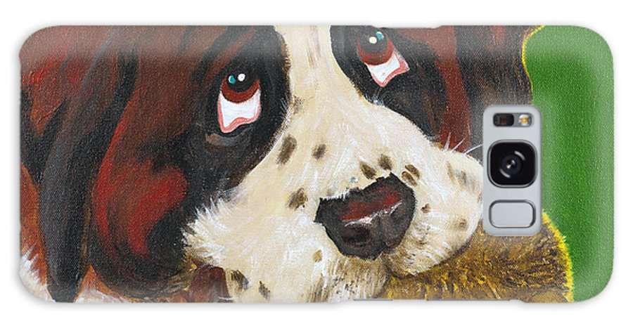 Dog Galaxy S8 Case featuring the painting Marvin by Candy Zohbon