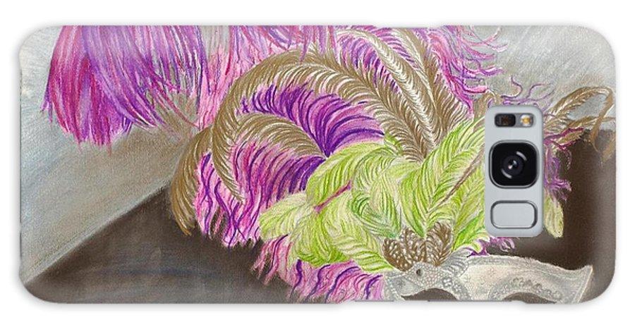 Mardi Gras Galaxy S8 Case featuring the drawing Mask by Yolanda Raker