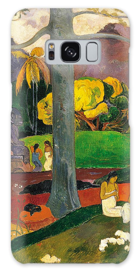Paul Gauguin Galaxy S8 Case featuring the painting Mata Mua.in Olden Times by Paul Gauguin