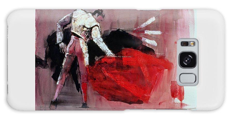 Toreador Galaxy S8 Case featuring the painting Matador by Mark Adlington
