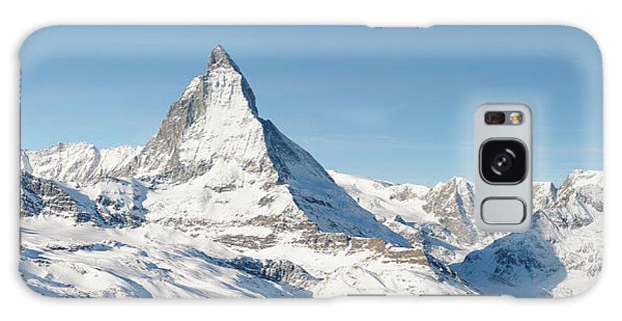 Scenics Galaxy Case featuring the photograph Matterhorn Panorama by Georgeclerk