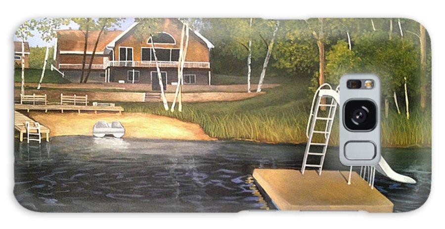 Rick Huotari Galaxy S8 Case featuring the painting Matt's Cabin by Rick Huotari