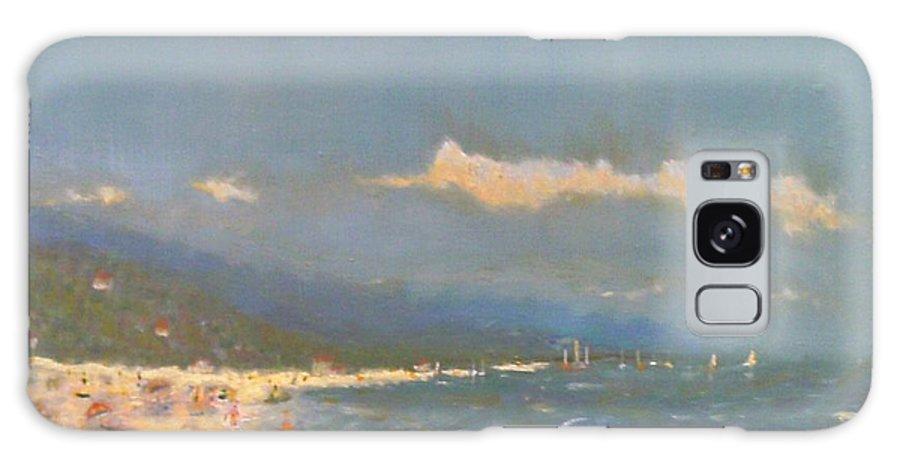 Beach Galaxy S8 Case featuring the painting Maui Beach by Michael Lynn Brown