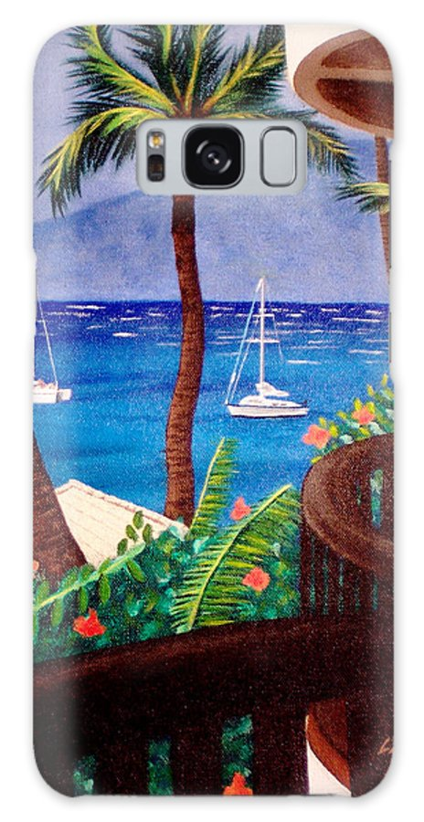 Hawaii Galaxy S8 Case featuring the painting Maui by Liz Boston
