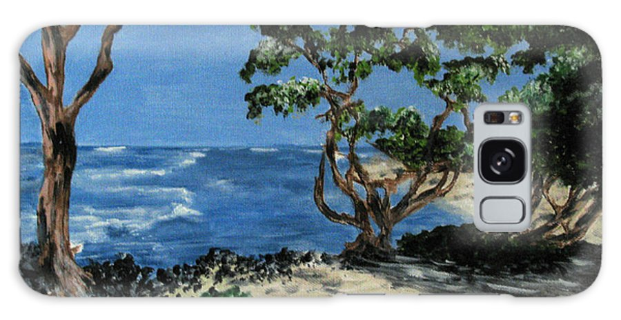 Beach Galaxy S8 Case featuring the painting Maui by Nancie Johnson