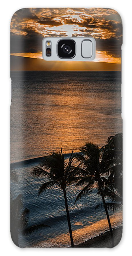 Hawaii Galaxy S8 Case featuring the photograph Maui Sunset 1 by William Murphy