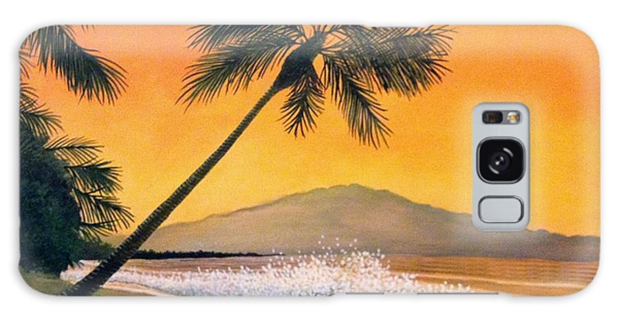 Rick Huotari Galaxy S8 Case featuring the painting Maui Sunset by Rick Huotari