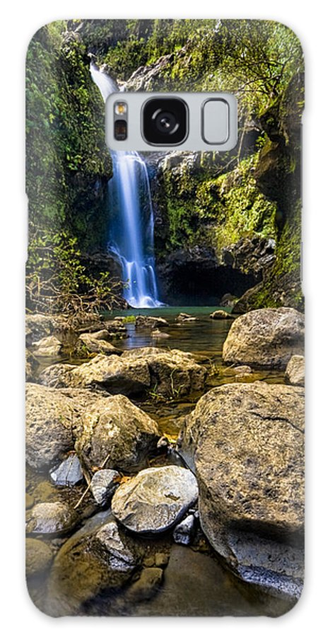 3scape Photos Galaxy S8 Case featuring the photograph Maui Waterfall by Adam Romanowicz