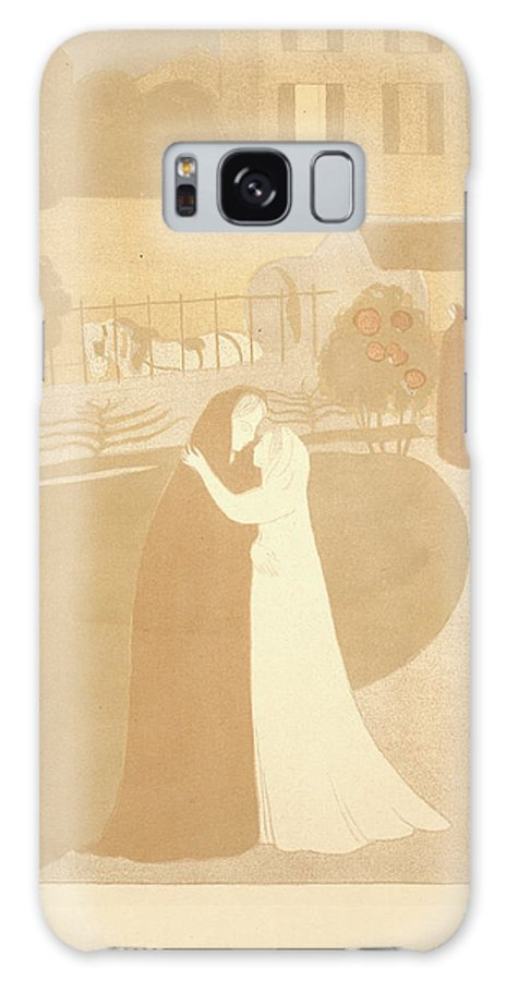 Maurice Denis Galaxy S8 Case featuring the drawing Maurice Denis French, 1870 - 1943. The Visitation La by Litz Collection
