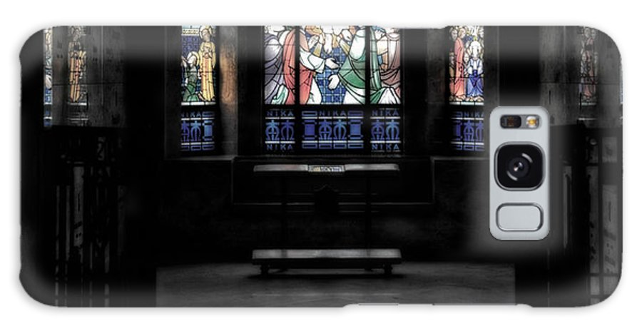 Glass Art Galaxy S8 Case featuring the photograph Mausoleum Stained Glass 05 by Thomas Woolworth