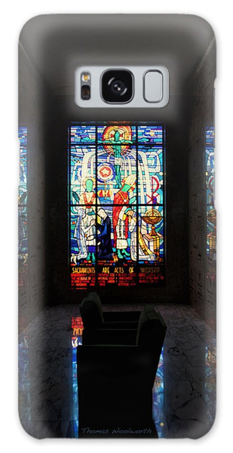 Glass Art Galaxy S8 Case featuring the photograph Mausoleum Stained Glass 07 by Thomas Woolworth