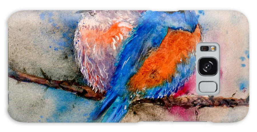 Bluebird Galaxy S8 Case featuring the painting Maybe She's A Bluebird by Beverley Harper Tinsley