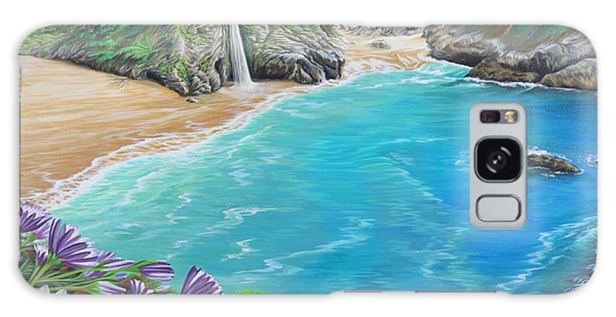 Beach Galaxy Case featuring the painting Mcway Falls by Jane Girardot