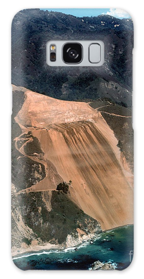 Mcway Galaxy S8 Case featuring the photograph Aerial Of Mcway Landslide Big Sur California 1984 by California Views Archives Mr Pat Hathaway Archives