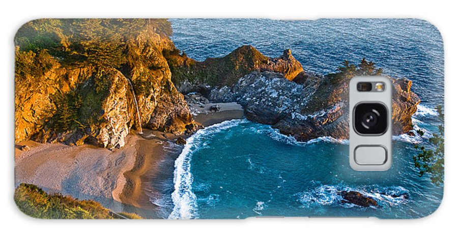 Beach Galaxy S8 Case featuring the photograph Mcway Waterfall. Big Sur by Jeff Black