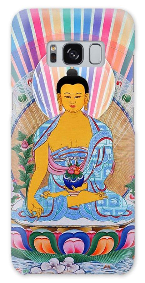 The Pharmacist Glass Light Tathagata Galaxy S8 Case featuring the photograph Medicine Buddha 1 by Jeelan Clark